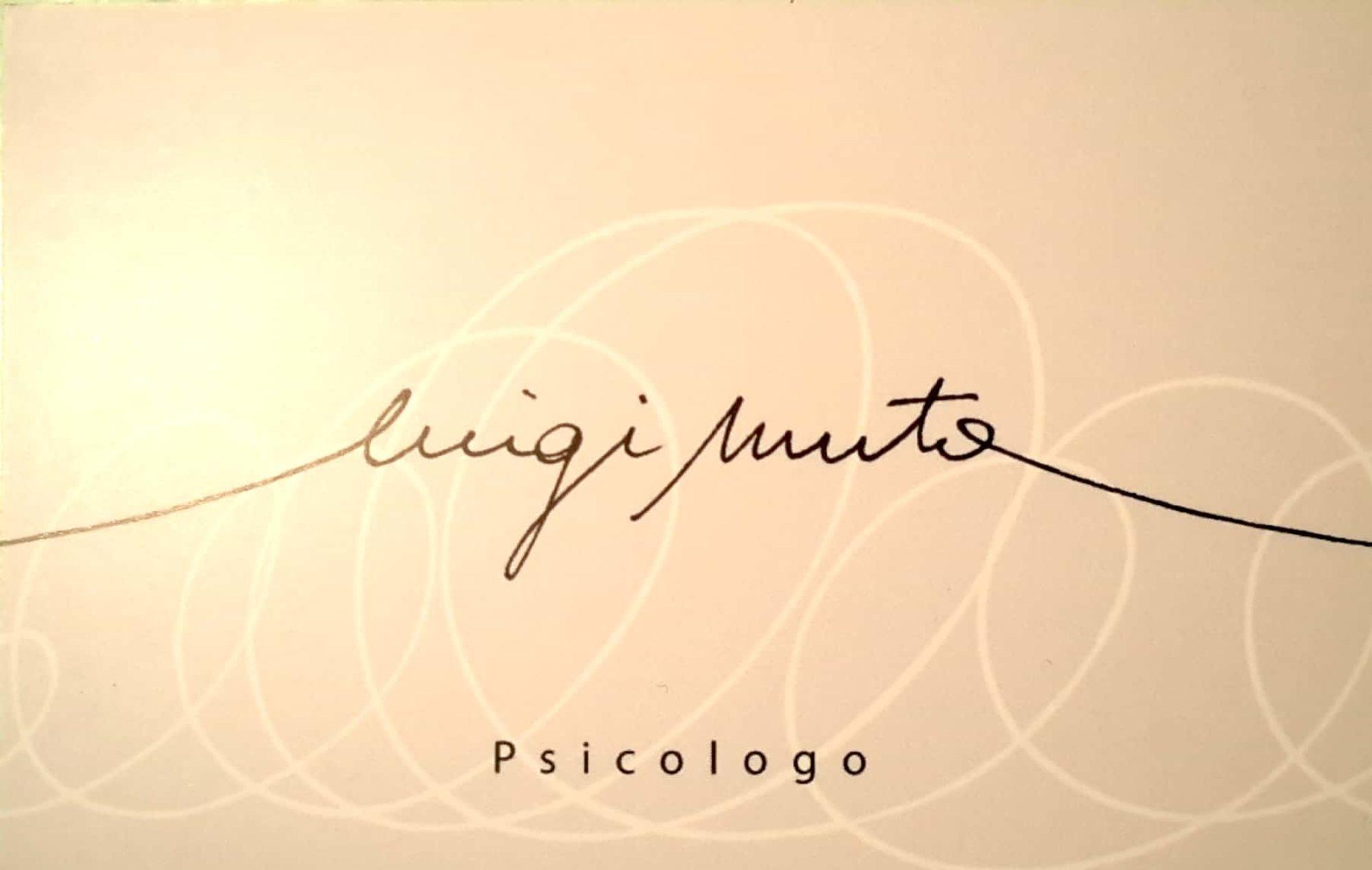 Psicologo Luigi Muto
